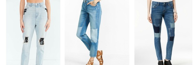 Class to Night Out: Patchwork Jeans