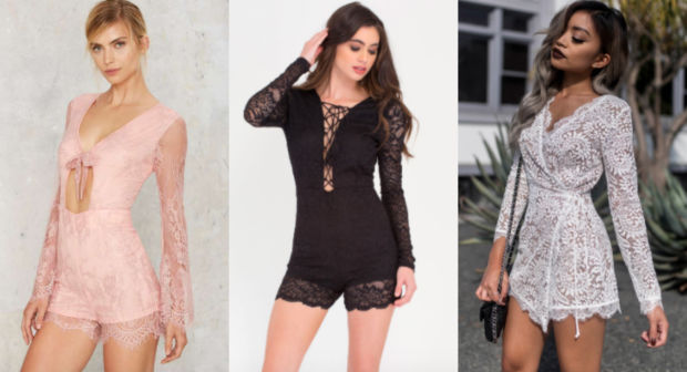 Would You Wear… a Long Sleeve All-Lace Romper?