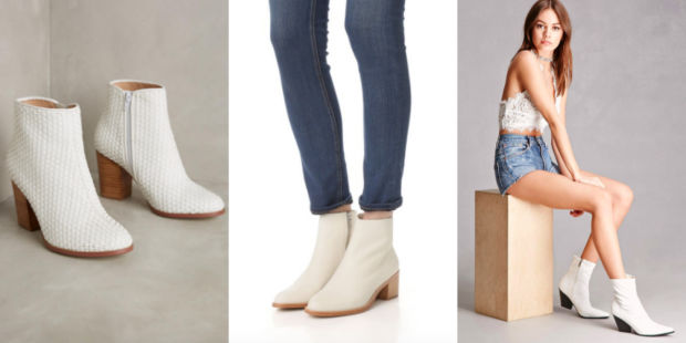 Would You Wear… White Chunky-Heeled Booties?