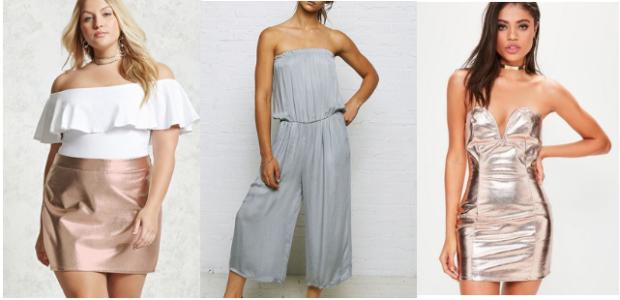 Class to Night Out: Metallic Skirt
