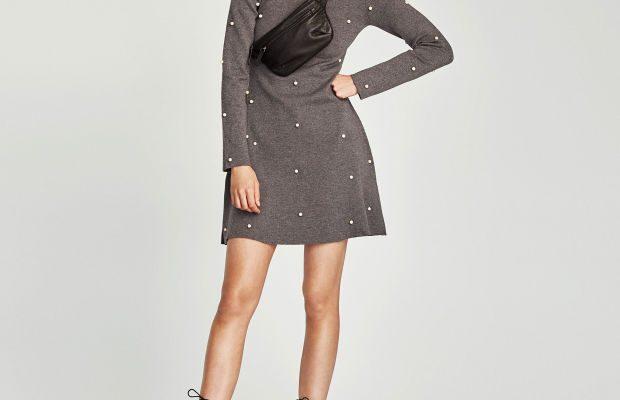 Wear It Now, Wear It Later: Pearl-Embellished Skater Dress