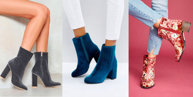 Would You Wear… Chunky-Heeled Velvet Booties?