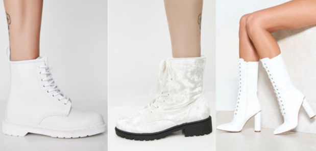 Class to Night Out: White Boots