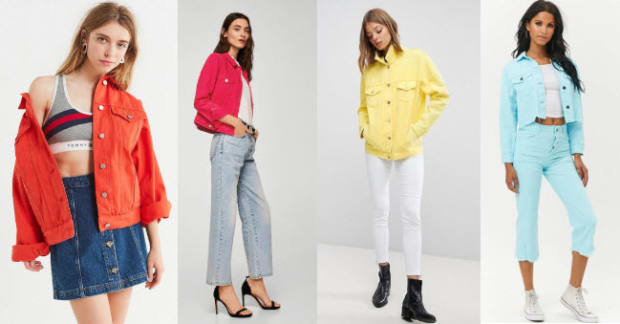 Class to Night Out: Colored Denim Jacket