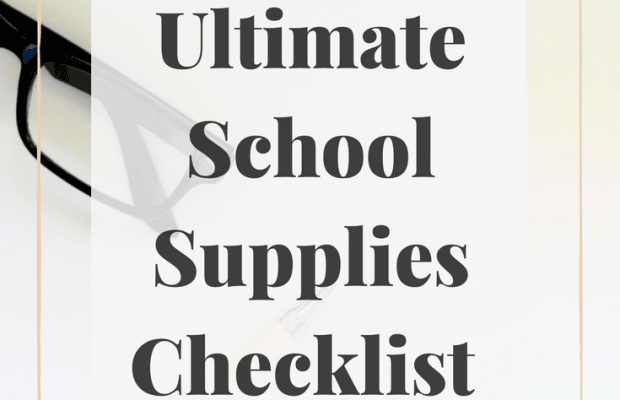 The Ultimate School Supplies Checklist: What You Really Need for College