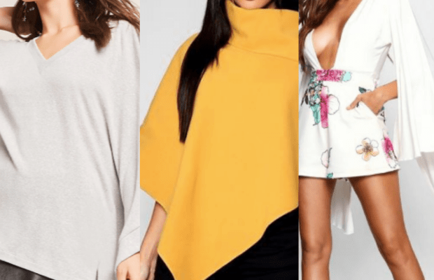 Class to Night Out: Cape Sleeve Top